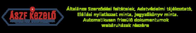 Webáruház ÁSZF-KEZELŐ Rendszer